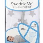 Детская пеленка из хлопка - SwaddleMe Grey Star Large